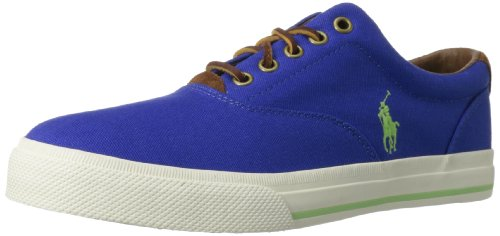 Polo Ralph Lauren Men's Vaughn Fashion Sneaker,Rugby Royal/Racing Green,8 D US