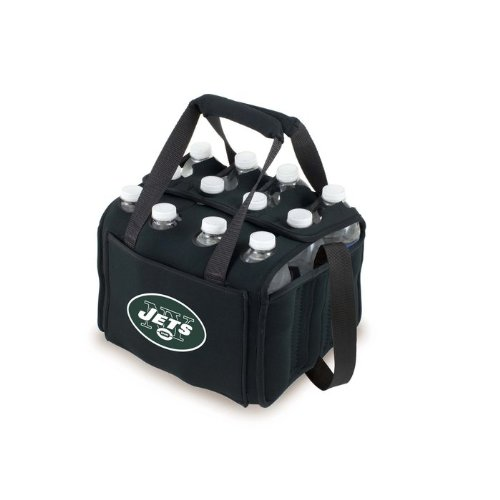 NFL New York Jets 12-Pack Insulated Drink Tote, Black at Amazon.com