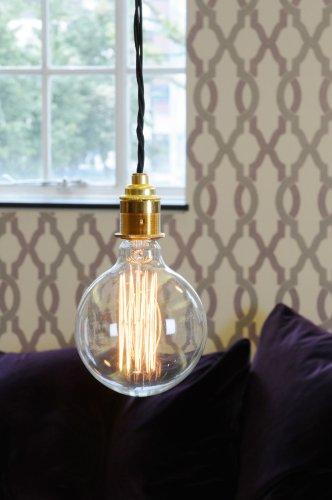 DANLAMP Schmucklampe MEGA Edison Globe rustikal 40W / 240V / E27 / 12cm Durchmesser / antik