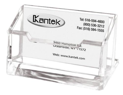 Kantek Acrylic Business Card Holder, Fits 80