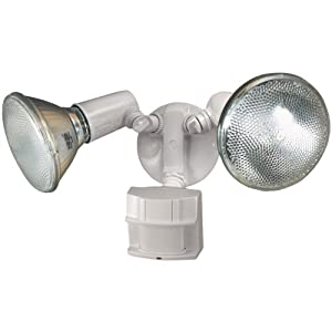 Heath Zenith SL-5411-WH Heavy Duty Motion Sensor Security Light (White)