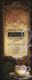 Coffee Shop Menu Art Poster Print Lisa Audit 8X20