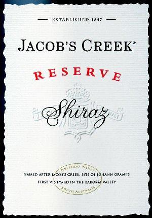 Jacob'S Creek Shiraz Reserve 2006 750Ml