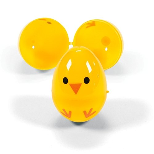 Easter Egg Chicks- Plastic Containers for Party Favors and Easter Egg Hunts (12 Pieces) - 1