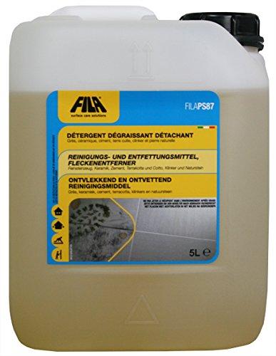 Fila PS87 Detergente, smacchiatore, decerante per cotto, gres porcellanato, ceramica smaltata, marmo, pietre non lucidate, cemento, linoleum, PVC, clinker 5 litro fino a 250 m²