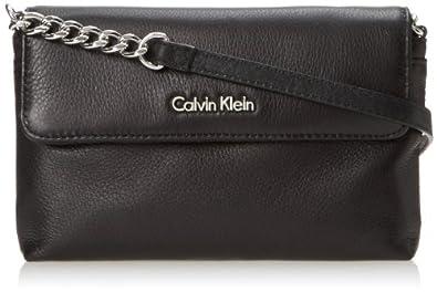 Calvin Klein Key Item Pebble Cross Body Bag,Black/Silver,One Size