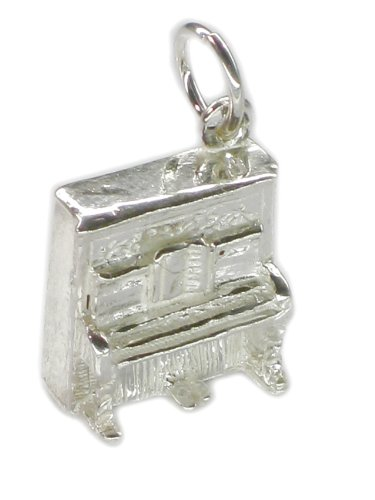Upright Piano sterling silver charm Music Free UK Post