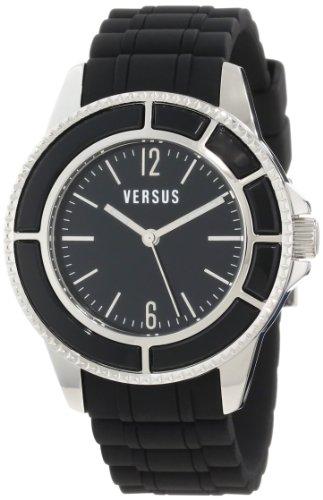 Versus by Versace Women's AL13LBQ809A009 Tokyo Black Dial Black Rubber Watch