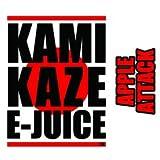 【純国産】KAMIKAZE E-JUICE 15ml 電子タバコ VAPE用リキッドジュース (APPLE ATTACK:アップルアタック, 15ml)