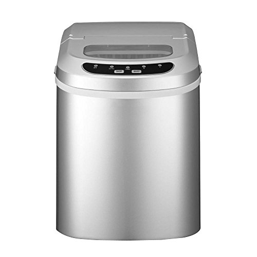 ... ICE102SILVER Ice102 Silver Silver Countertop Ice Maker 24lbs/24hrs