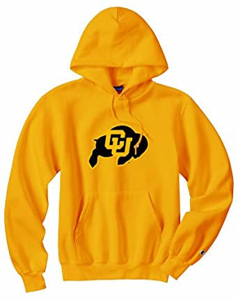 Champion NCAA Unisex Adult Colorado Golden Buffaloes Powerblend Hood (Gold, Small) by Champion