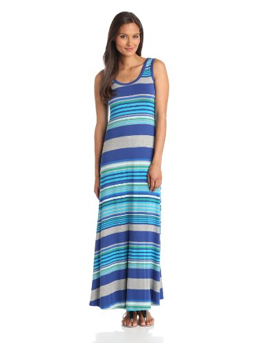 Calvin Klein Women's Stripe Maxi Dress, Multi, 10