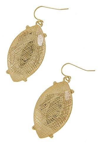 Karmas Canvas Clear Oval Jewel Earrings front-1042556