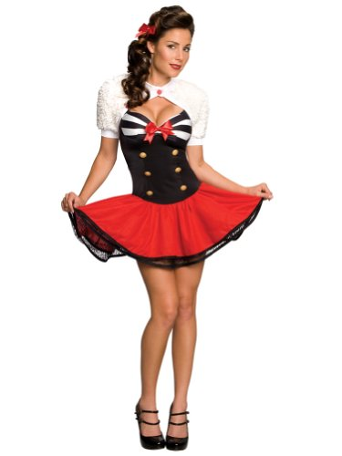 Sexy Naval Uniform Costume Support Our Troops Sailor Costume US Military Mini Dr