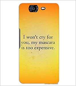 PrintDhaba Quote D-4407 Back Case Cover for MICROMAX A350 CANVAS KNIGHT (Multi-Coloured)