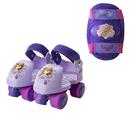 PlayWheels-Disney-Sofia-the-First-Glitter-Kids-Roller-Skates-with-Knee-Pads-Junior-Size-6-12