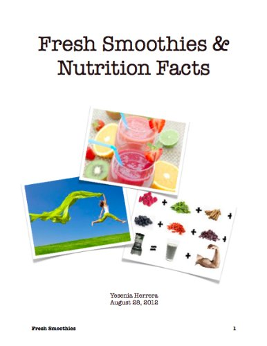 Fresh Smoothies & Nutrition Facts