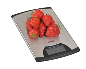 Duronic KS760 Super Slim Stainless Steel Design Digital Display 5KG Kitchen Scales from Duronic