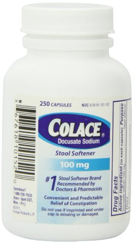 Colace Docusate Sodium Stool Softener Capsules 100 Mg