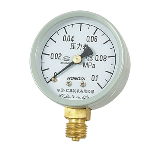 "0-0.1 Mpa 0.55"" Male Threaded Pressure Gauge Manometer front-977861"