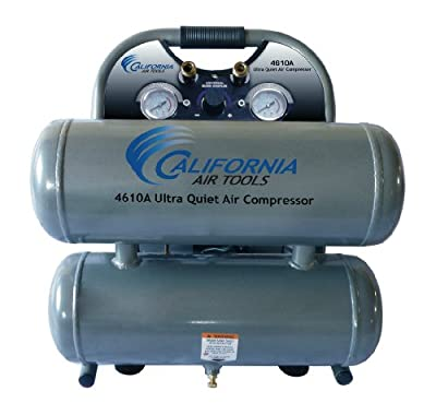 California Air Tools CAT-4610A Ultra Quiet and Oil-Free 1.0 Hp 4.6-Gallon Aluminum Twin Tank Air Compressor