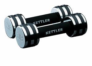 KETTLER Chrom-Hantel Paar, chrome, 2 x 4 kg, 07446-450