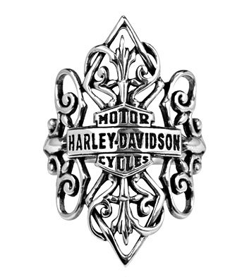 Harley Davidson 'Gipsy Band' ornate sterling band HDR0219 by MOD size 7