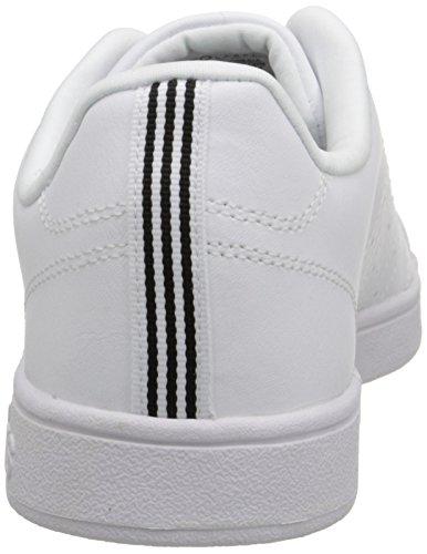 adidas neo uomini vantaggio pulito vl moda scarpa, bianco / bianco