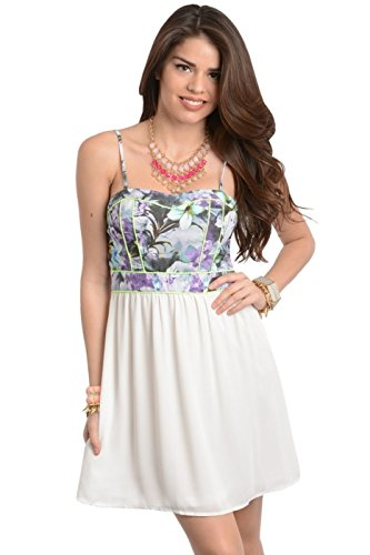 Floral Bodice A-Line Dress