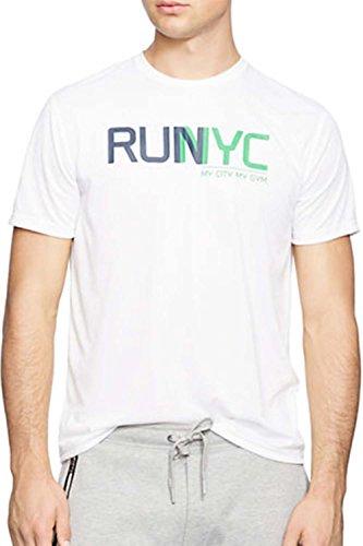 POLO SPORT Men's Performance Graphic T-Shirt (Medium, Pure White)
