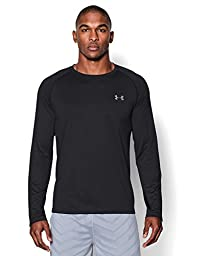 Under Armour Men\'s Tech Long Sleeve T-Shirt, Black (001), Large