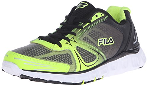 Fila Men's Memory Solidarity-M Running Shoe, Safety Yellow/Black/White, 9.5 M US