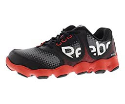 Reebok ATV19 Sonic Rush Running Shoe (Little Kid/Big Kid),Black/Red/Grey/White,12 M US Little Kid