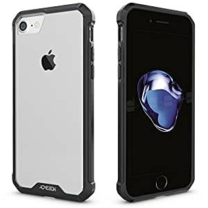 iPhone 7 Case, ACME.BOX [Air Hybrid] [Crystal Clear] Anti-Scratch Shockproof Protective Clear Back Panel With TPU Bumper Cover for Apple iPhone 7 - Black