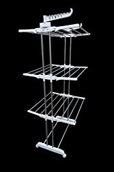 AMAZE (ORIGINAL) Folding Portable Light weight Stainless Steel Cloth Drying Stand Rack