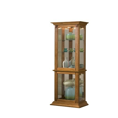 Home Meridian International Curio, 18 By 11 By 70-Inch, Medium Brown front-782481