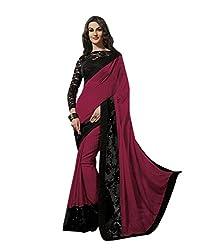 Subhash Sarees Party Wear Magenta Color Georgette Saree Sari Sarees