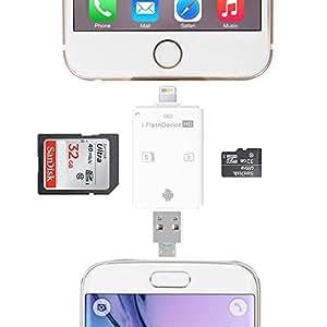 DMG Memory Card Reader Lightning iFlash Drive USB SDHC Micro SD OTG Card Adapter for iPhone 6S 6S plus 6 6 plus iPad