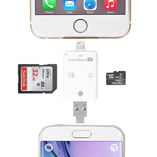 Trail and Game Camera Viewer, Micro lighnting connector Reads SD, SDHC and Micro SD Cards for Apple iPhone, iPad, iPod (Micro View Camera compare prices)
