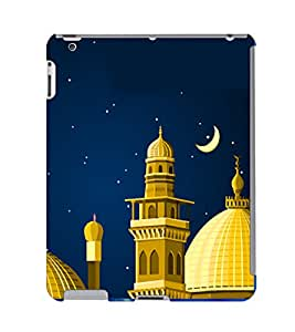 Fuson 3D Printed Masjid Designer Back Case Cover for Apple iPad Air 2 - D553