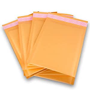 "50 Small KRAFT BUBBLE MAILERS PADDED ENVELOPES 4""x6"" Inches"