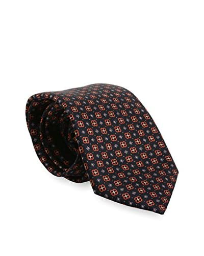 Brioni Men's Patterned Silk Tie, Orange