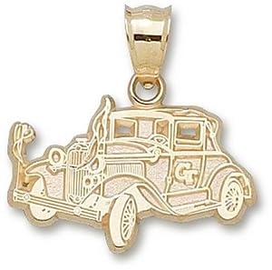 Georgia Tech Ramblin Wreck Car 5 8 - 10K Gold by Logo Art