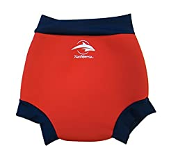 Konfidence Babies Neo Nappy Swim Diaper Cover 12-18 Months Red/Navy