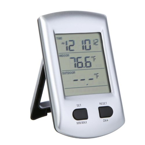Specam Indoor Outdoor Lcd Display Digital Wireless Thermometer Weather Station Clock For Home Garden