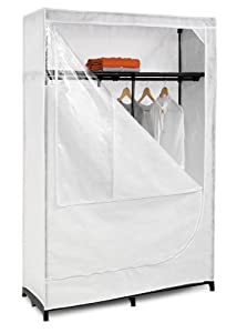 Honey-Can-Do WRD-01898 46-Inch Portable Clothing Storage Closet with Top Shelf