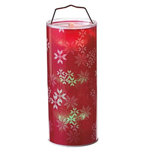 Hanging Christmas Snowflake LED Light-Up Decorative Pillar - Size 12 in. Tall by Midwest-CBK