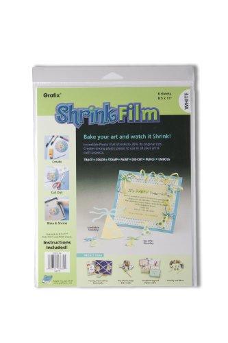 "Shrink Film 8,5 ""X 11"" 6/Pkg-bianco"