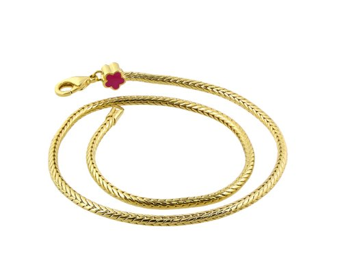 "Lauren G Adams ""Gabriella Beads"" 18K Gold Plated 16 Inch Necklace for Stackable Enamel Beads"