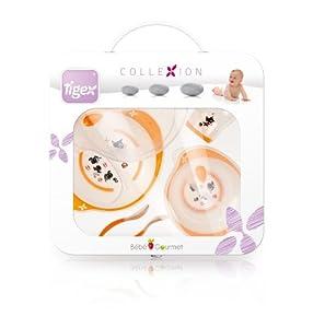 Tigex Collexion 730152 - Juego de vajilla (plato con tapa, cuenco con tapa, vaso, cuchara y tenedor ergonómicos) de Tigex Collexion - BebeHogar.com